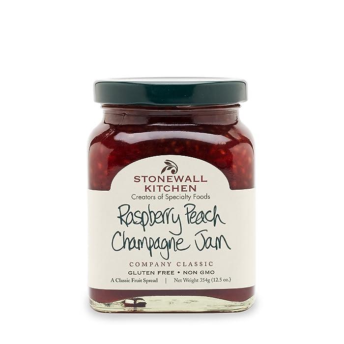 Stonewall Kitchen Raspberry Peach Champagne Jam, 12.5 Ounces