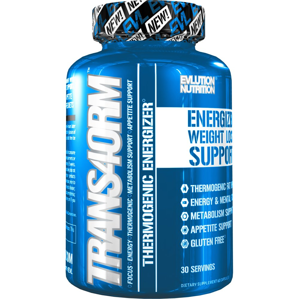 Evlution Nutrition Trans4orm Thermogenic Energizing Fat Burner Supplement, Increase Weight Loss, Energy and Intense Focus, Diet Pills for Men and Women (30 Servings) by Evlution