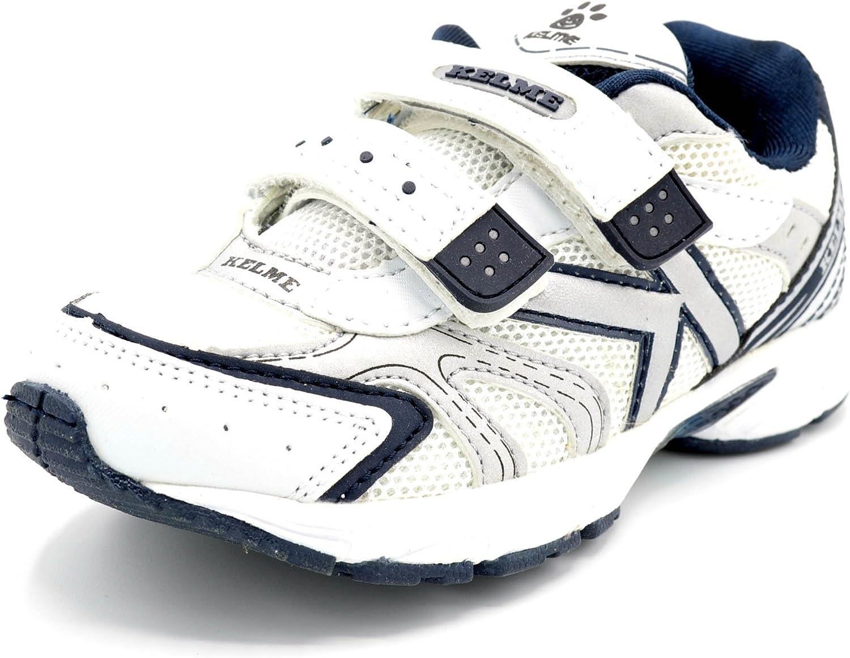 Kelme Zoe Blanco Marino - Zapatilla Deportiva Running con Velcro para niño.: Amazon.es: Zapatos y complementos