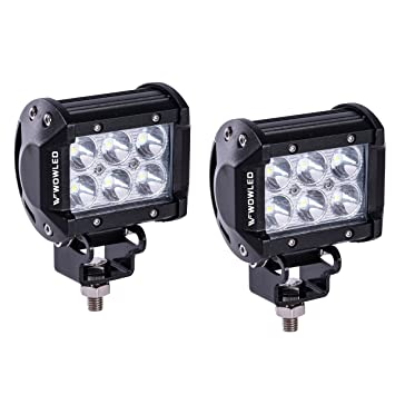Wowled 4 inch 2 pack 18w led lights cree led work light bar spot wowled 4 inch 2 pack 18w led lights cree led work light bar spot lamp offroad aloadofball Gallery