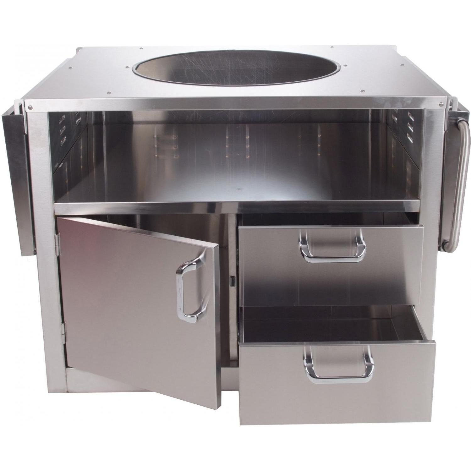 Amazon.com : BBQGuys.com Stainless Steel Cart For Large Big Green Egg  Ceramic Grills : Outdoor Grill Carts : Garden U0026 Outdoor
