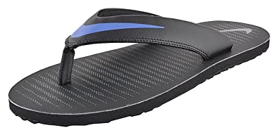 huge discount 13ffd c94a4 Nike Men's Chroma Thong 5 - Black/Blue Flip Flops Slippers ...