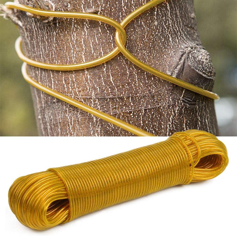CENBEN Tendedero con Revestimiento de Pl/ástico Cable de Acero Resistente 50 M Amarillo