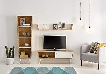 HOGAR24 ES Composición-salón Reciclado- Mueble TV con ...