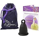 Me Luna Menstruationstasse Classic, Ring, Schwarz, Größe M