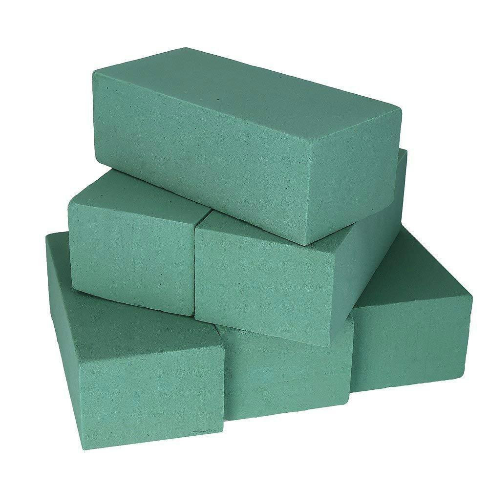 VEYLIN 20PCS Floral Foam Blocks Green Styrofoam Bricks for Fresh Flower Arrangement or Artificial Flowers