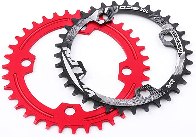 DECKAS 32T MTB AM XC Bike Narrow Wide Round Chainring Chain Ring BCD 104mm 41g