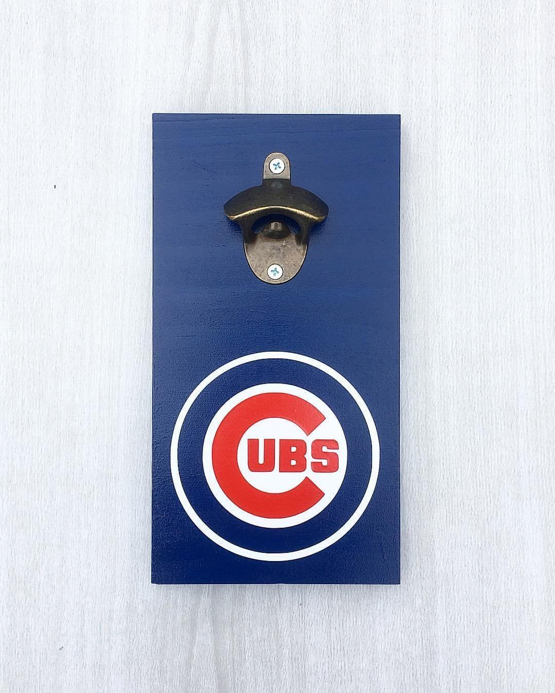 Chicago Cubs Beer Bottle Opener by LEADING EDGE DESIGNS | Chicago Cubs Bar Sign / Chicago Cubs Decor / Chicago Cubs Home Decor