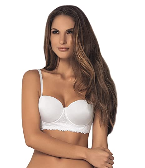 3806b98e35c3 Strapless Bra by Vanessa Lingerie - Removable & Adjustable Straps- Underwire  Bra,White,