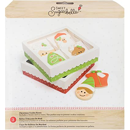 American Crafts 376406 3 Piece Sweet Sugarbelle Holiday Cookie Boxes Quad