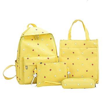 Amazon.com: 4 mochilas escolares de lona para mujer + bolsa ...