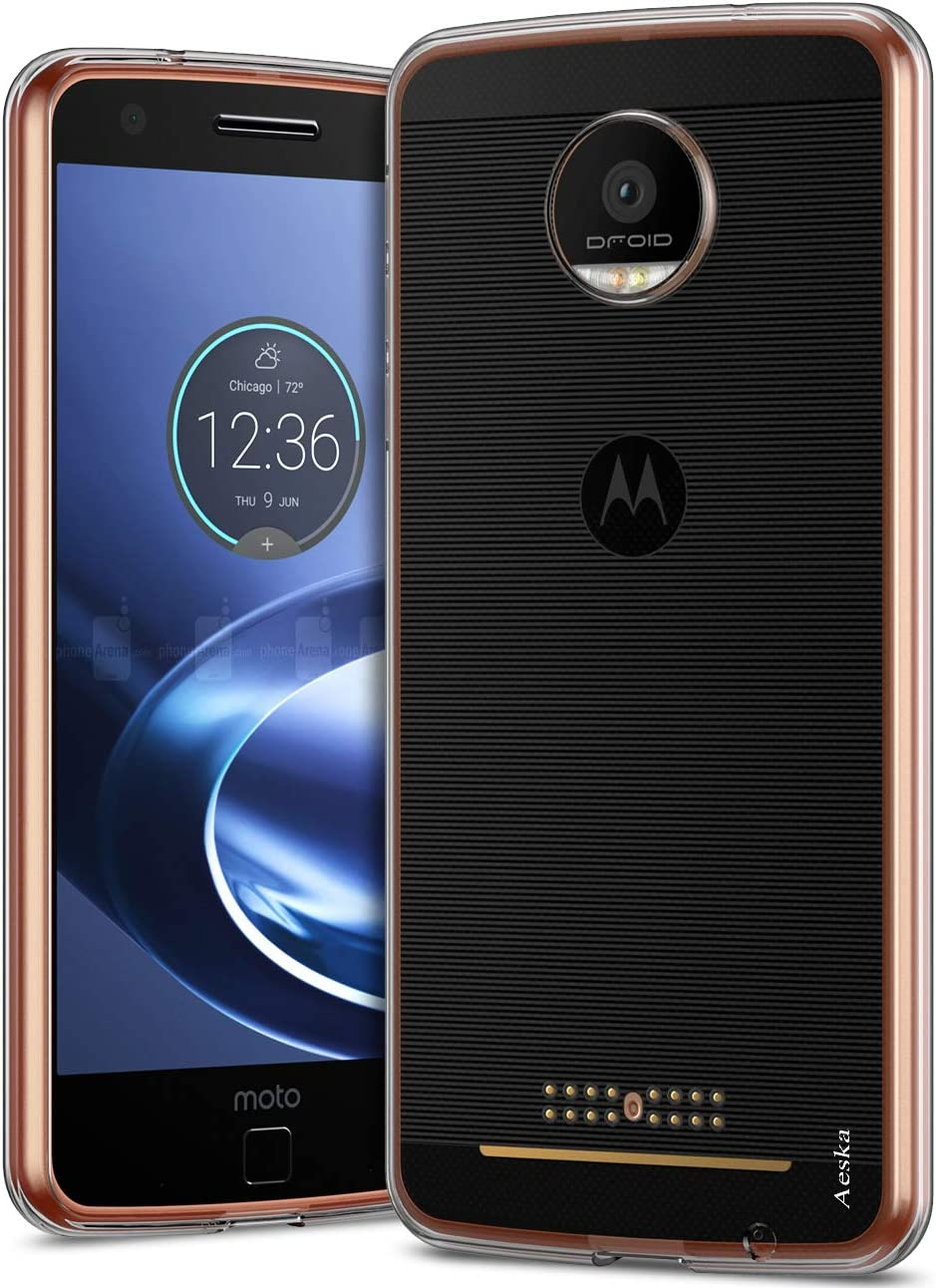 Aeska Moto Z Force Case, Ultra [Slim Thin] Flexible TPU Gel Rubber Soft Skin Silicone Protective Case Cover for Motorola Moto Z Force Droid (Clear)
