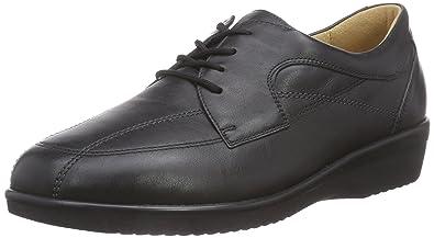 Le Inge De Ganter, Weite I - Chaussures En Cuir Avec Femme Lacets, Couleur Noir, Taille 35