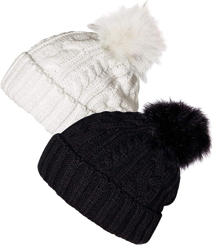 Ysense Gorros de Punto Sombreros y Gorras de Invierno Mujer, Pack ...