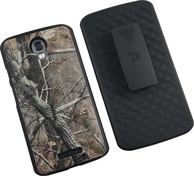 Droid Turbo-2 Camo Clip Case, Nakedcellphones [Camouflage Tree Leaf Real Woods]