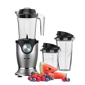 BioChef Galaxy – Batidora de vaso americana + Personal blender | 1.45L + 2 vasos 700ml y 400ml | 35.000 RPM | BPA Free