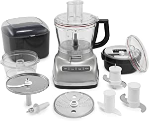 KFP1466CU 14-Cup Food Processor with Exact Slice System and Dicing Kit - Contour Silver