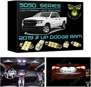 Fyre Flys 15 Piece 6000K White LED Interior Lights for 2019 & Up Dodge Ram 5050 Series SMD Package Kit and Install Tool