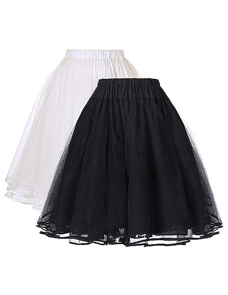 Belle Poque® Falda Mujer de Tul Vintage Retro Miriñaque Tutú ...