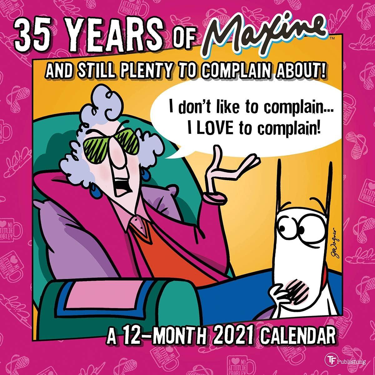 TF Publishing, 2021 Maxine Wall Calendar