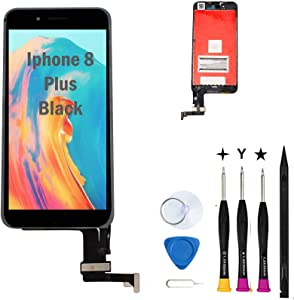 Oli & Ode Screen Replacement For iPhone 8 Plus Screen Replacement Iphone 8 Plus Replacement Screen Iphone 8 Plus LCD Screen Replacement Kit Touch LCD Digitizer Assembly with 3D Touch A1864/A1897/A1898