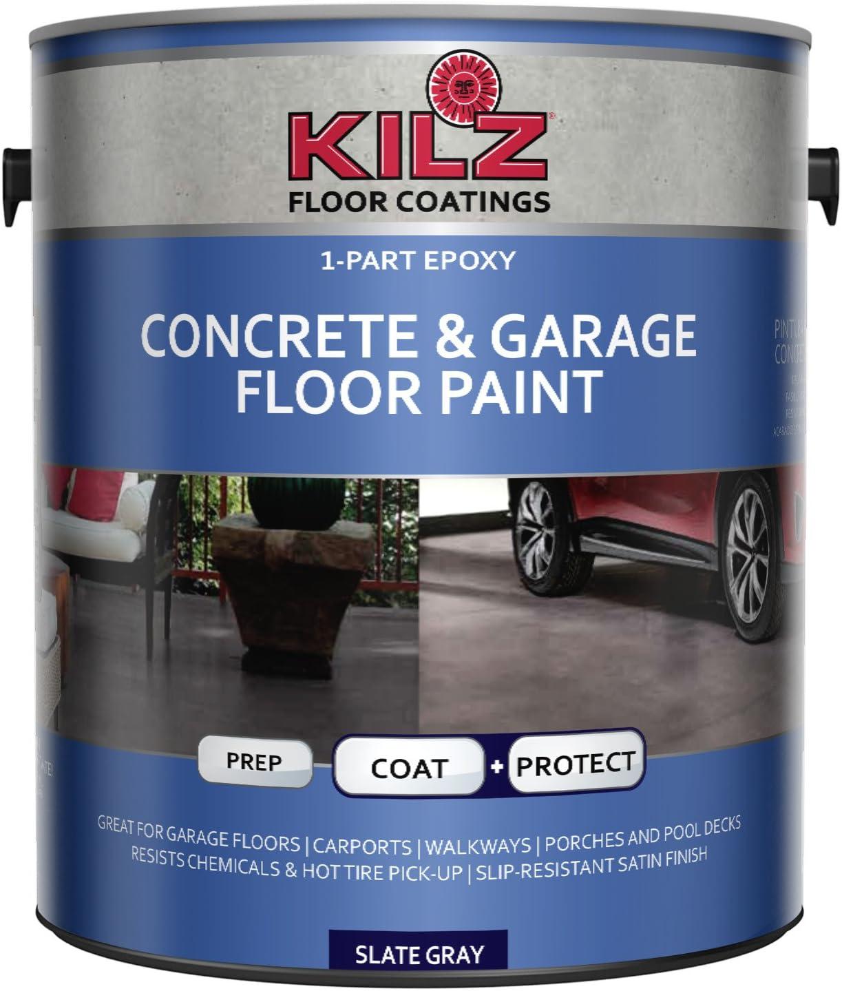 KILZ Epoxy Acrylic Interior/Exterior Concrete and Garage Floor Paint