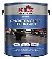 8. KILZ 1 part Epoxy Acrylic Concrete Garage Floor Paint