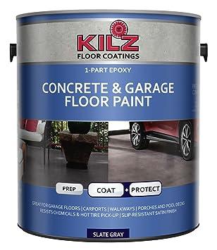 kilz pice poxy acrylique intrieurextrieur bton et garage peinture de sol satin