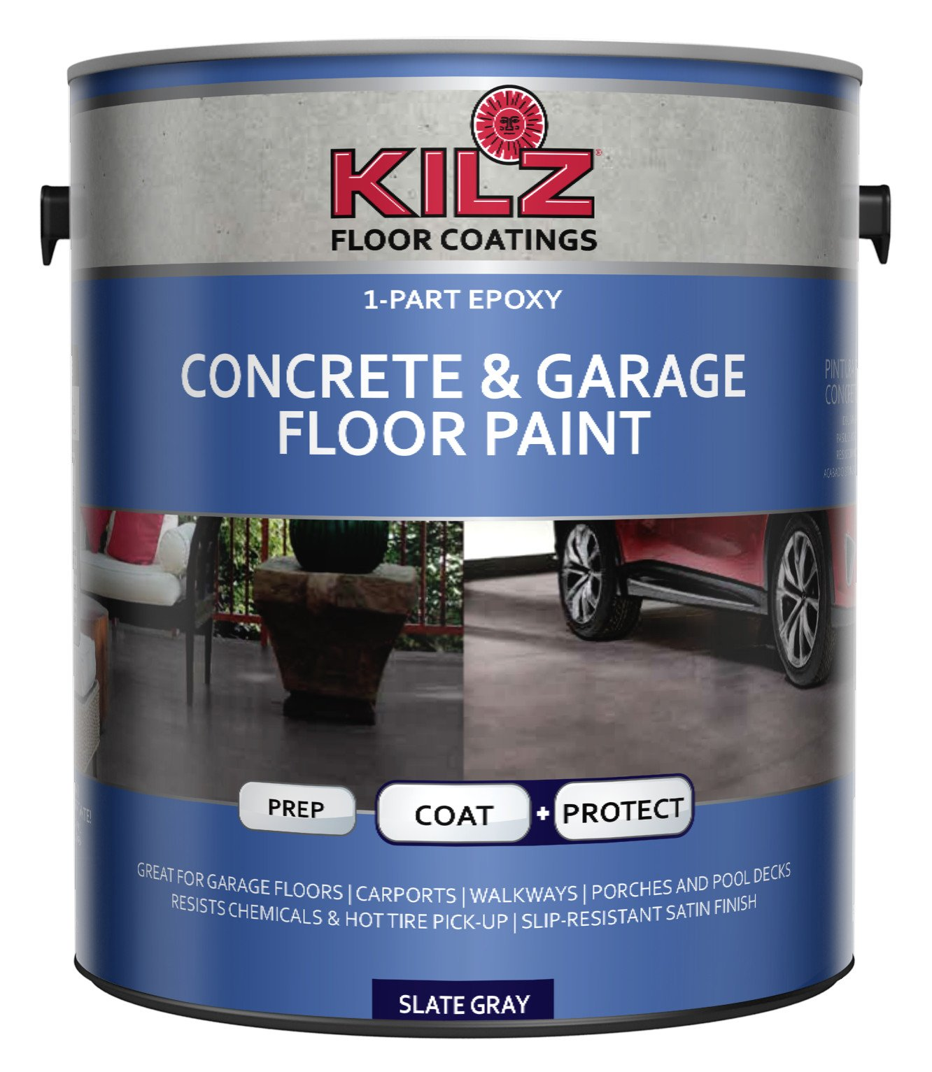 Epoxy Acrylic Painting : Kilz part epoxy acrylic interior exterior concrete