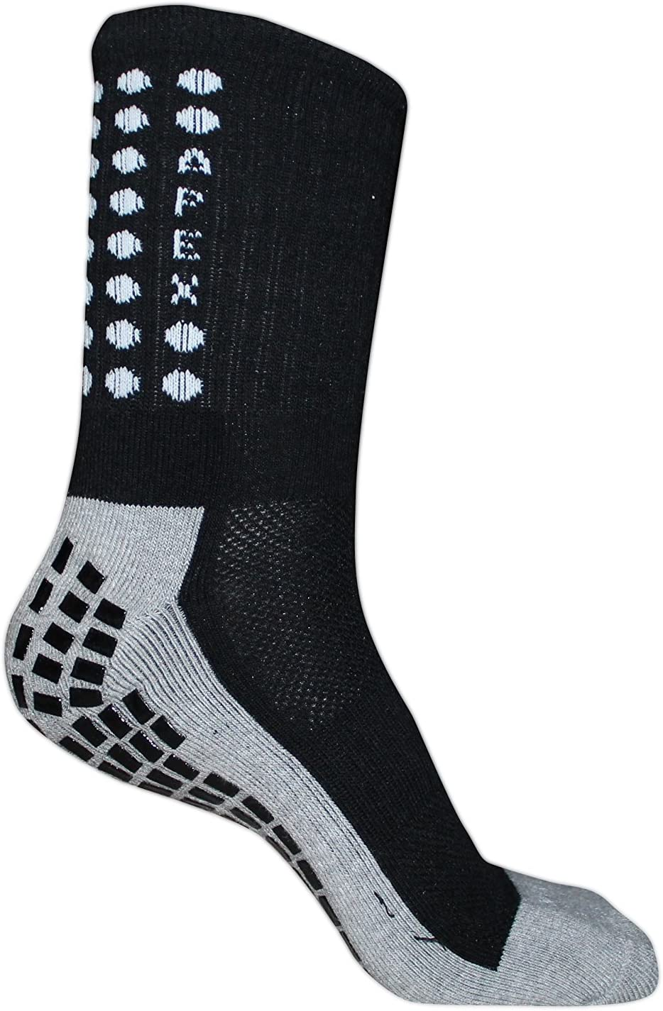 Apex #1 Non Slip Sport Socks, The Best Traction Technology Inside and Outside of Socks, No More Blisters, Grip Socks