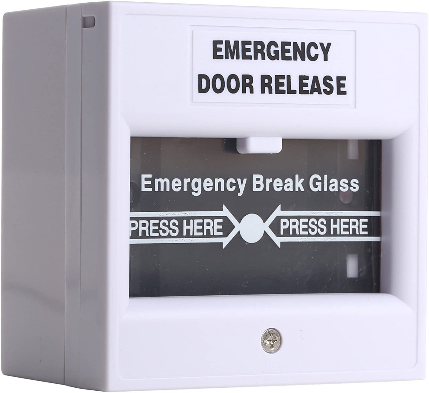 Wired Security Switch Break Glass For Fire Alarm Emergency Exit Release Button - -