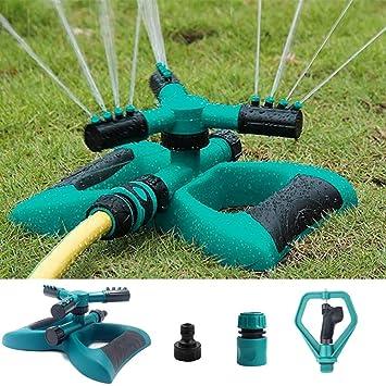 Rasensprenger 360° 3-Arm drehbar Garten Sprinkler Impulsregner Kreisregner DE
