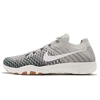 655cefba3c8a1 NIKE Womens Free TR Flyknit 2 Pale Grey/Light Charcoal/Vintage Green Nylon  Running Shoes 8.5 B US