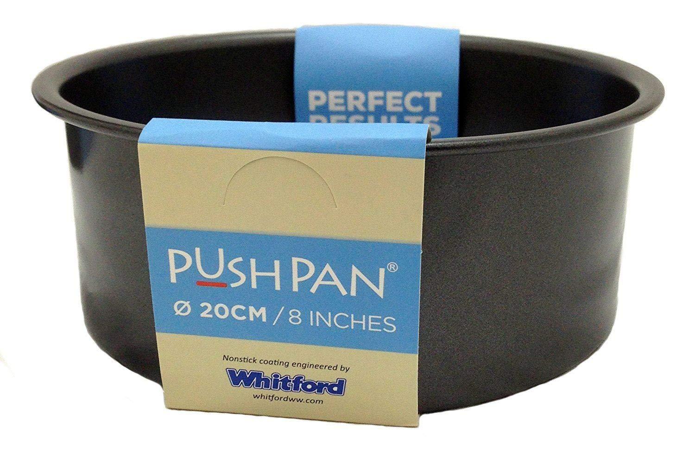 Wham Non-Stick Deep Push Pan Tin Loose Base Steel 8 inch