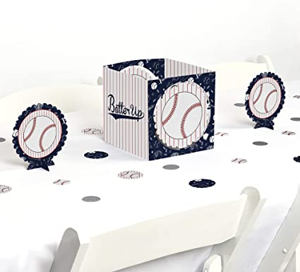 Baseball Batter Up Table Decorations Baby Shower or Birthday Party Fold and Flare Centerpieces 10 Count