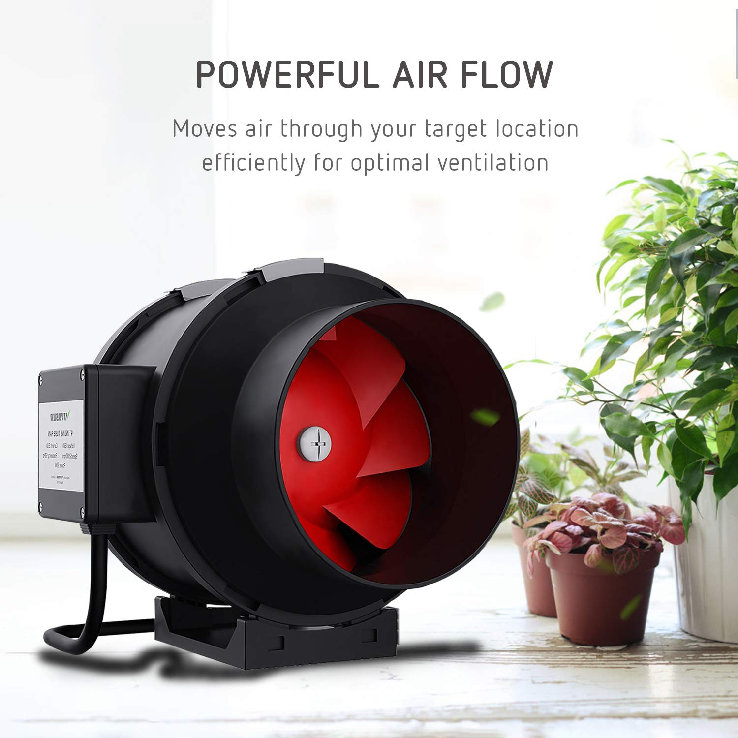 VIVOSUN 6 Inch 390 CFM Inline Duct Fan with Variable Speed Controller HVAC Blower for Ventilation