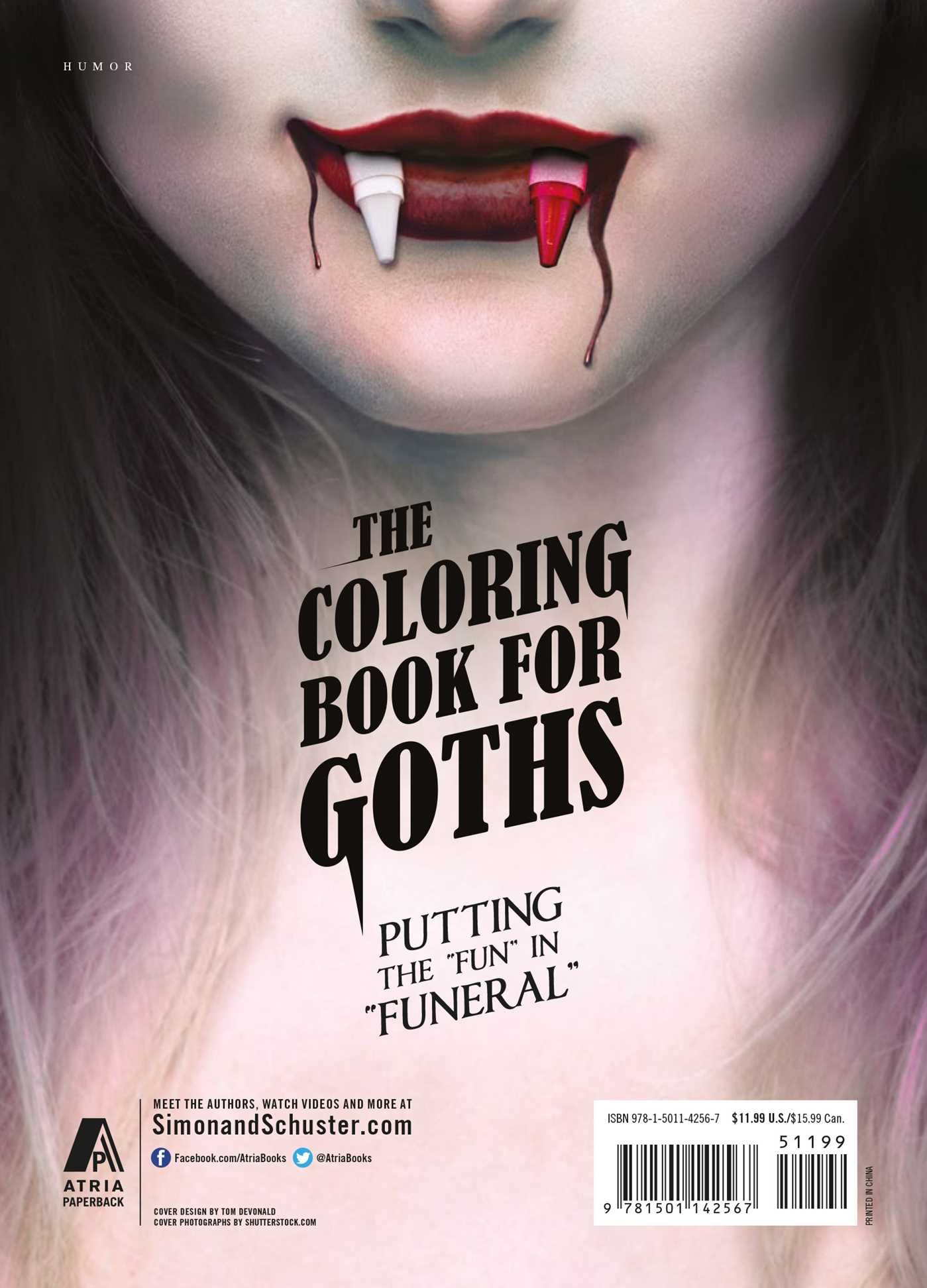 amazoncom the coloring book for goths the worlds most depressing book 9781501142567 tom devonald books
