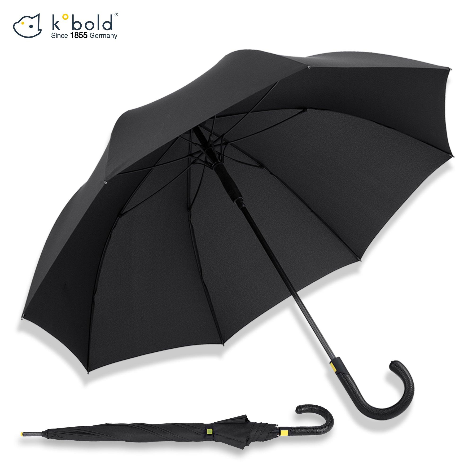 Kobold Stick Umbrella Unisex Auto Open Storm Resistant Windproof Fiberglass frame Umbreakable