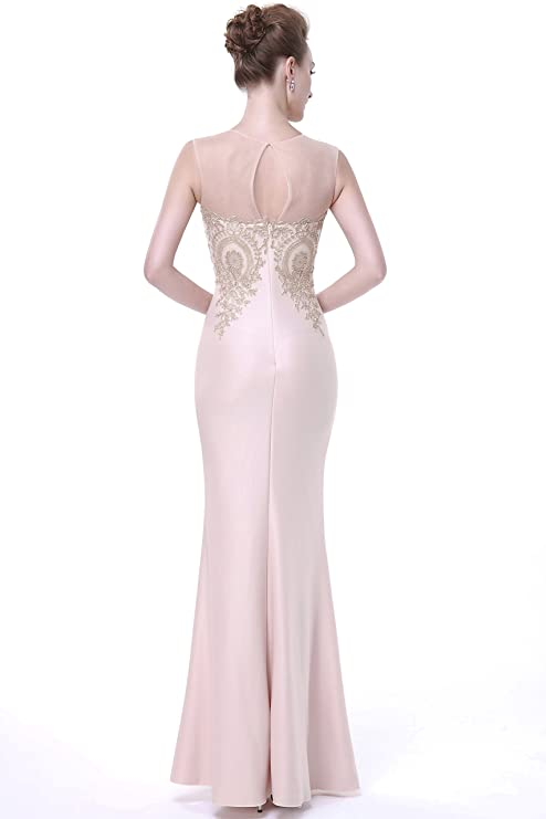 Fanciest Womens Formal Embroidery Prom Dresses Mermaid Long Evening Gowns: Amazon.co.uk: Clothing