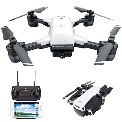 le-idea IDEA10 FPV RC Drone with 1080P Wide-Angle HD Camera Live Video and GPS Return Home, WiFi Quadcopter with Altitude Hold, Easy to Fly for Beginners, Intelligent Battery Long Control Range: Toys & Games