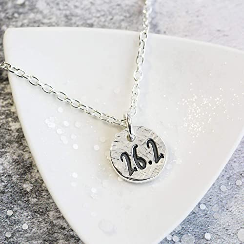 fcf98ee26108a Marathon Runners Necklace, Gift for Runner, Silver, 16/18/20 inch ...