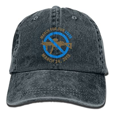ElephantAN Men Women March for Our Lives Adjustable Vintage Baseball Caps Washed Cowboy Dyed Denim Hat Unisex
