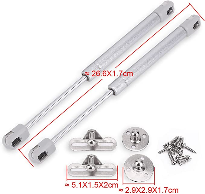 4PCS GAS STRUT LID STAY SUPPORT KITCHEN CABINET DOOR HINGE OPEN CLOSE 50N Micro Trader
