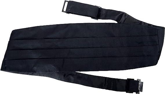 Hugo Boss Mens 100/% Silk Black Cummerbund One Size