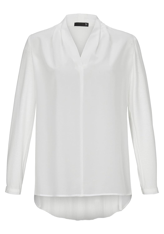 Thomas Rabe Damen Klassische Bluse mit V-Ausschnitt