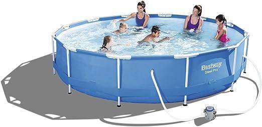 Bestway 56062- piscina redonda c/bomba filtro Motor Diam. 366 -76 ...
