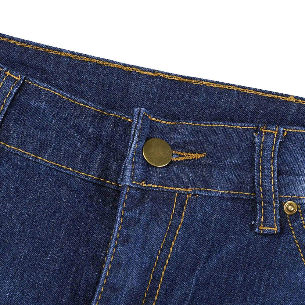 Womens Ankle Skinny Jeans,Plus Size Hole Detail Denim Pants High Waist Trousers by-NEWONESUN
