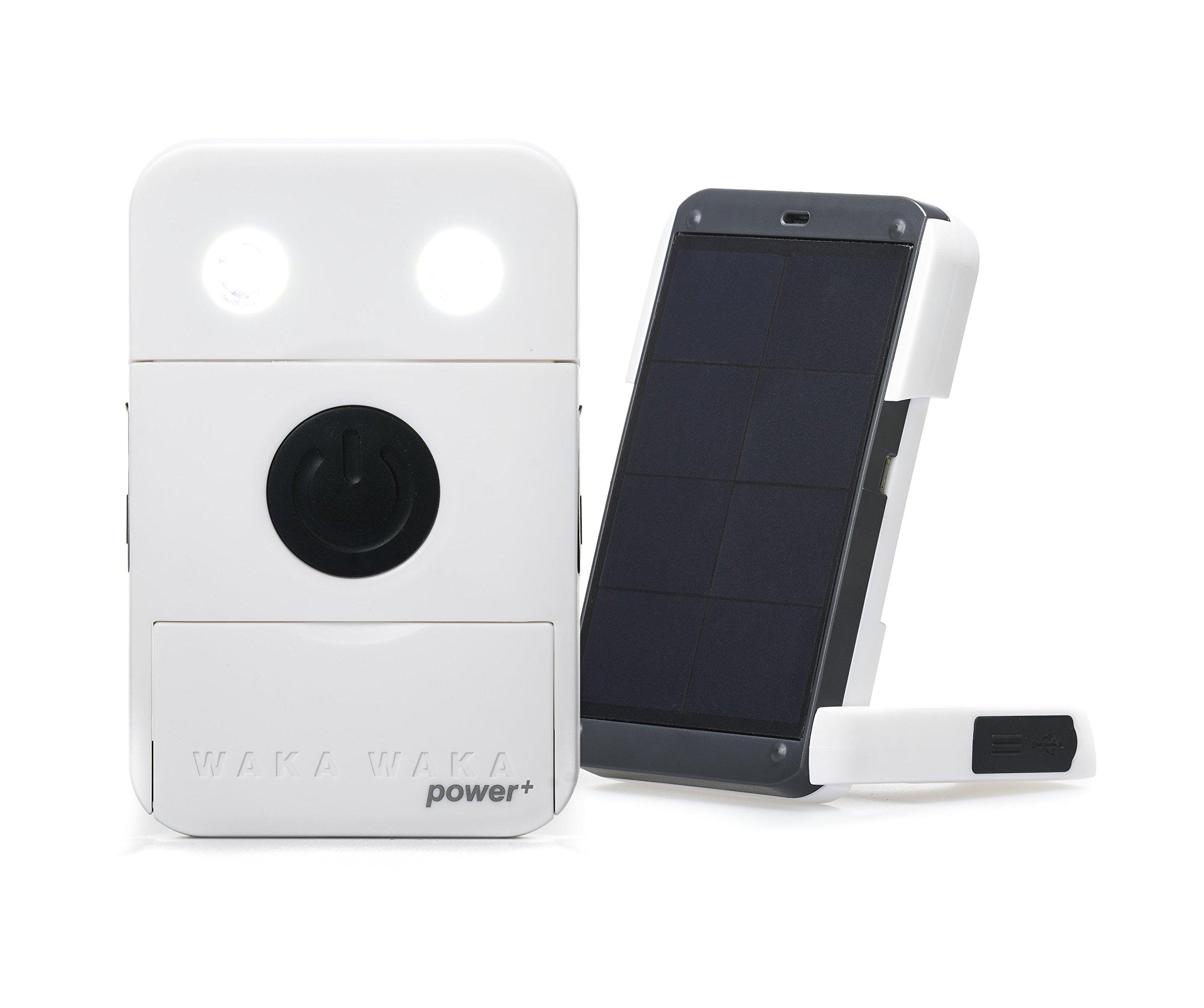 WakaWaka Power+ Solar-Powered Flashlight + Charger - 2200mAh, White