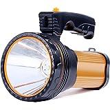 Allflash High Power Super Bright Portable Handheld spotlight Flashlight 6000 Lumens USB Rechargeable LED Searchlight…