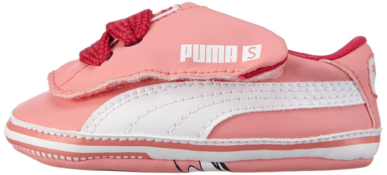 Puma Crib Pack Tom&Jerry, Baskets mode bébé fille & T-shirt, Rose (Salmon Rose/White 02), 19